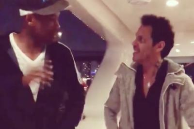 VIDEO | Marc Anthony le enseña a bailar salsa a Will Smith
