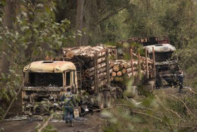 """Dueños de camiones piden reunión con Chadwick y hablan de """"rebrote"""" de ataques en el sur"""