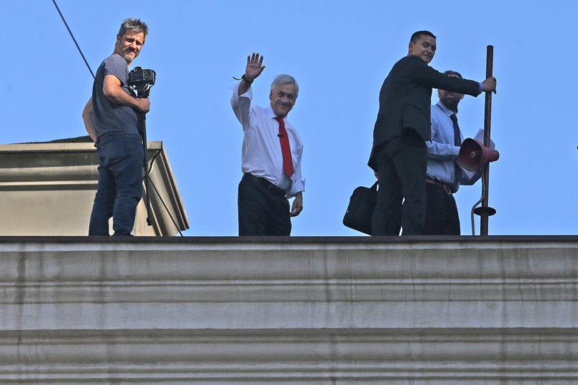 Este es el video que Sebastián Piñera grabó en el techo de La Moneda