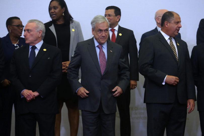 FOTOS |Captan el encuentro entre Sebastián Piñera y Evo Morales en Cumbre de las Américas