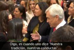 """El momento en que Cariola y Vallejo le dedican un par de palabras a Piñera por hablar de """"nuestras mujeres"""""""