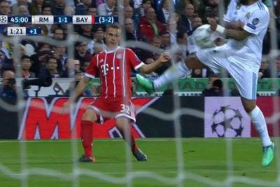 Marcelo reconoce que fue penal para el Bayern Munich