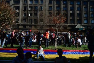 FOTOS | Venezolanos residentes en Chile se manifestaron contra las elecciones de su país