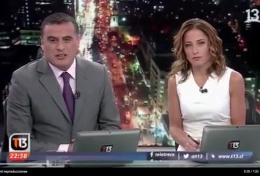 VIDEO | Ramón Ulloa y Constanza Santa María se quiebran en el cierre del noticiario al hablar de los despidos en Canal 13
