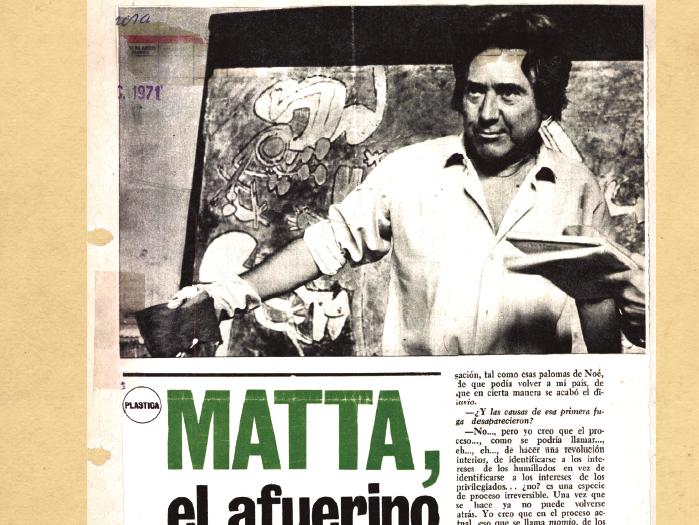 Museo de Bellas Artes rescata dimensión local de Roberto Matta en nueva exposición