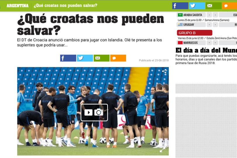 Croacia anunció equipo B para partido con Islandia y la prensa argentina perdió la cabeza