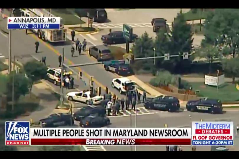 VIDEOS + FOTOS| Los primeros registros del tiroteo que deja varios muertos en diario de Maryland