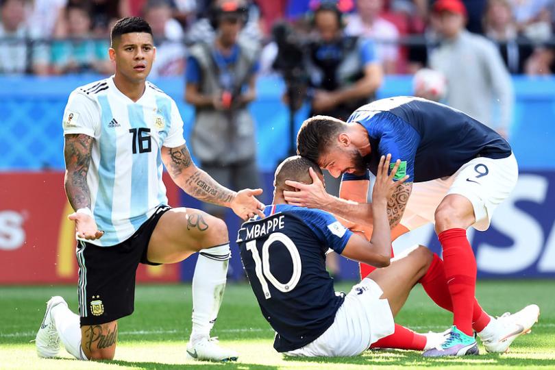 Las duras burlas a la defensa argentina por la velocidad de Mbappé
