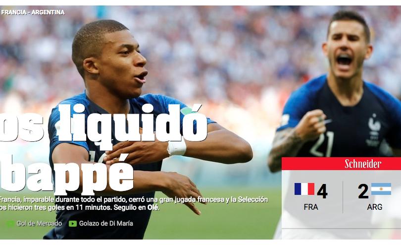 FOTOS | De la alegría a la tragedia: la eliminación de Argentina en diez titulares de Olé durante el partido
