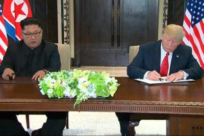 Los cuatro puntos del documento que firmaron Donald Trump y Kim Jong-un tras histórica reunión