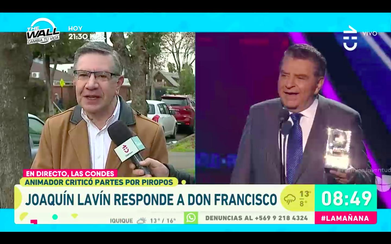VIDEO |Don Francisco relativizó las sanciones a los piropos y Lavín lo trató de viejo, pero con respeto