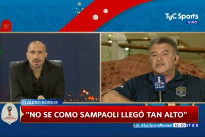 """VIDEO  Claudio Borghi reventó a Sampaoli en la TV argentina y explicó por qué le dice """"chancho arriba del árbol"""""""