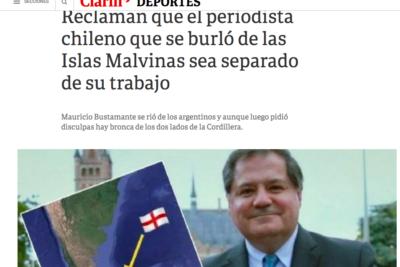 Clarín promueve campaña de argentinos para que Mauricio Bustamante sea desvinculado de TVN