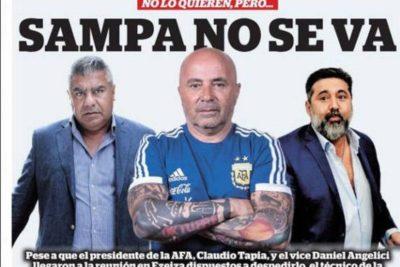 PORTADAS   Así titularon los medios argentinos la continuidad de Sampaoli en la selección