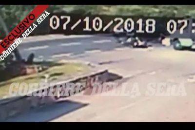 VIDEO | Revelan primeras imágenes de violento accidente sufrido por George Clooney