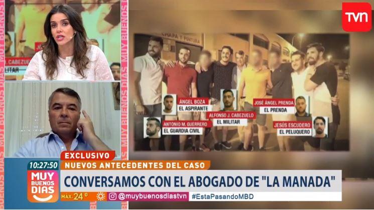 """""""""""Son imbéciles, pero no culpables"""": abogado de La Manada causa indignación del panel de Muy Buenos Días"""""""