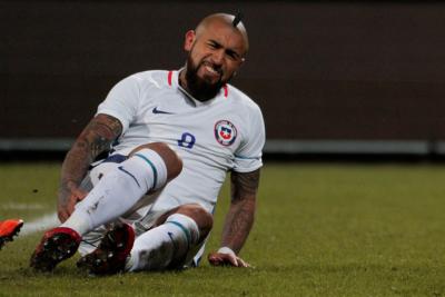 """Arturo Vidal manda saludos a su poderoso """"amigo"""" durante partido de Croacia"""