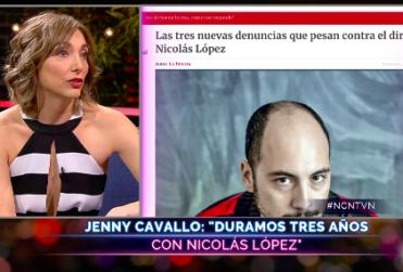 """Jenny Cavallo asegura que Nicolás López """"tiene su propia versión de los hechos"""""""