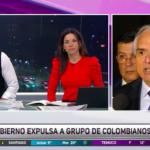 """VIDEO  El momento en que Neme cuestiona en vivo al Gobierno por mostrar """"cinematográfica"""" expulsión de colombianos"""