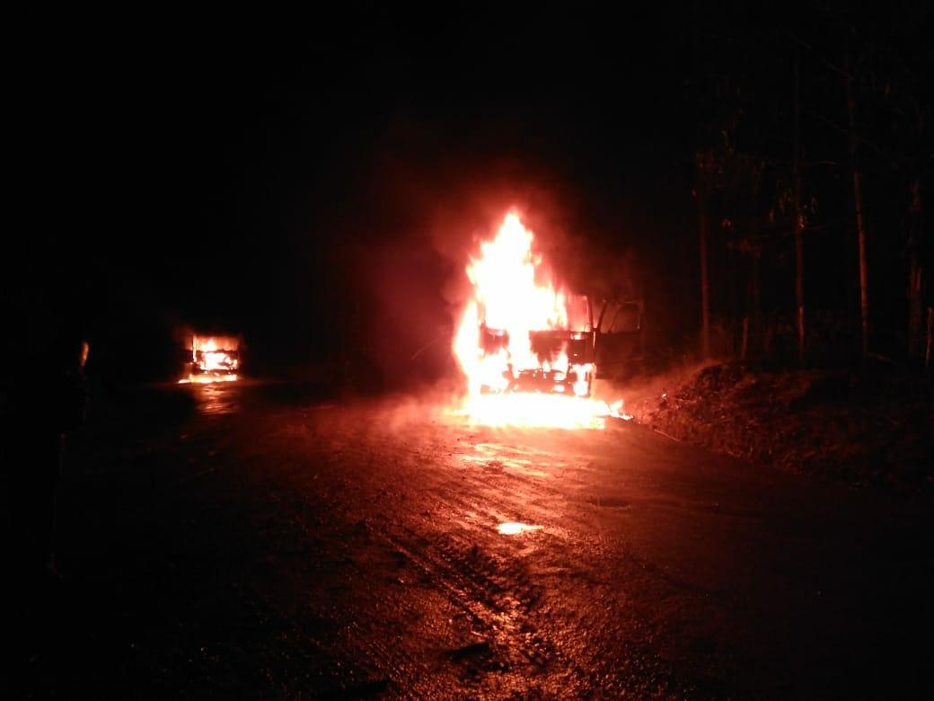 Dos ataques incendiarios se registraron en el sur del país durante la madrugada