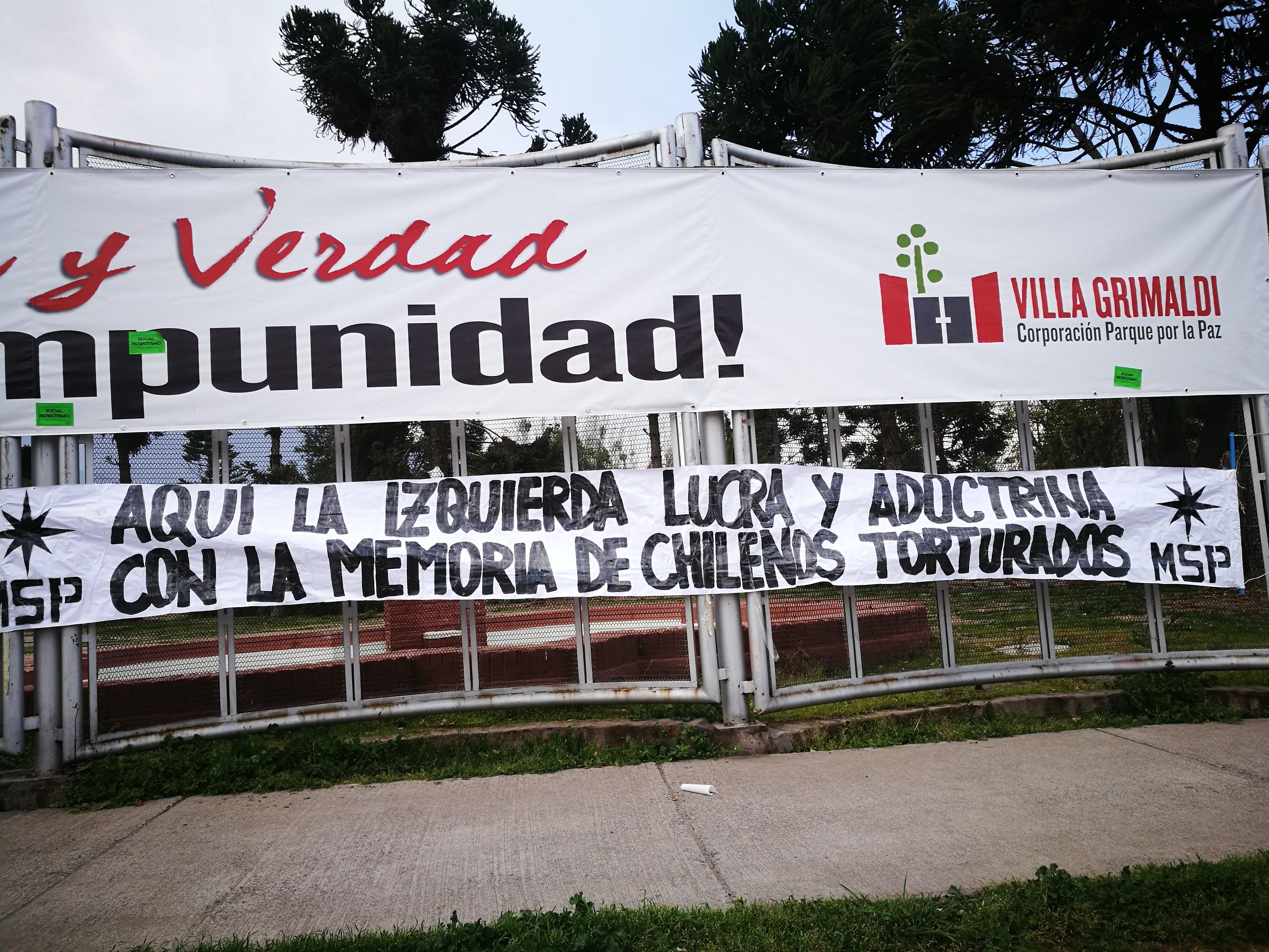 Villa Grimaldi denuncia ataque del Movimiento Social Patriota