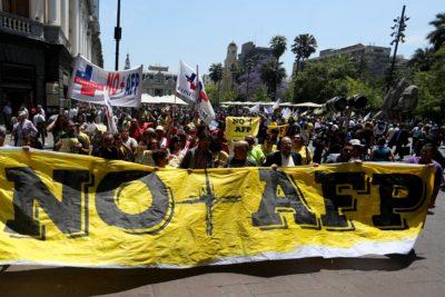 No+AFP anuncia marchas en todo Chile para el 24 de octubre