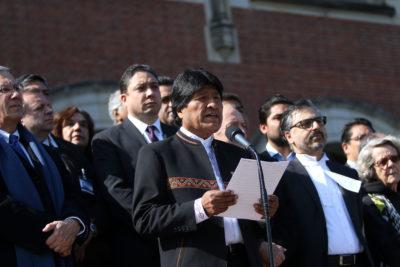 Evo Morales viajó a la ONU y se reunirá con equipo jurídico por fallo de  la Corte Internacional de Justicia