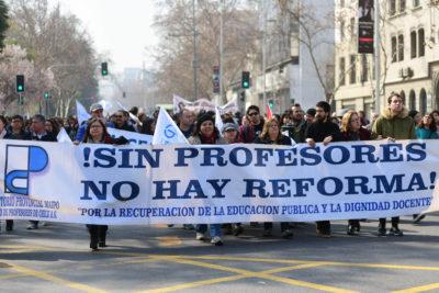 """Profesores irían a paro nacional definitivo por """"actuar desleal"""" del Gobierno"""