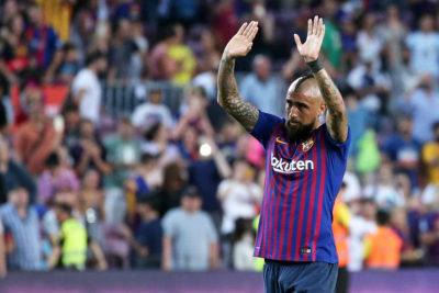 Arturo Vidal se estrena en Liga de Campeones en goleada de Barcelona
