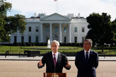 """Piñera y cita con Donald Trump: """"Hablamos de Bolivia, Venezuela y Nicaragua"""""""