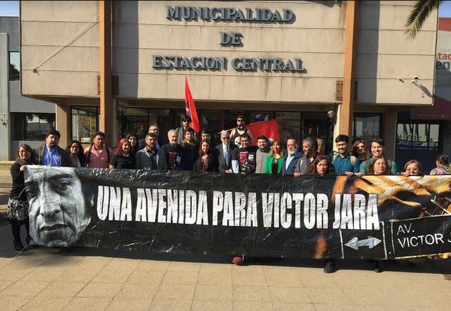 """""""Avenida Víctor Jara"""": presentan proyecto para rebautizar calle de Estación Central con su nombre"""