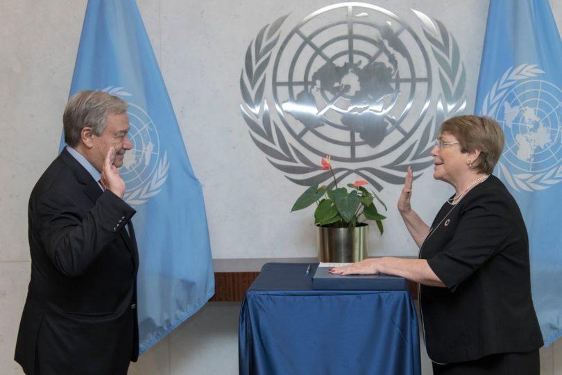 Michelle Bachelet juró oficialmente como nueva Alta Comisionada para los DD.HH. en la ONU