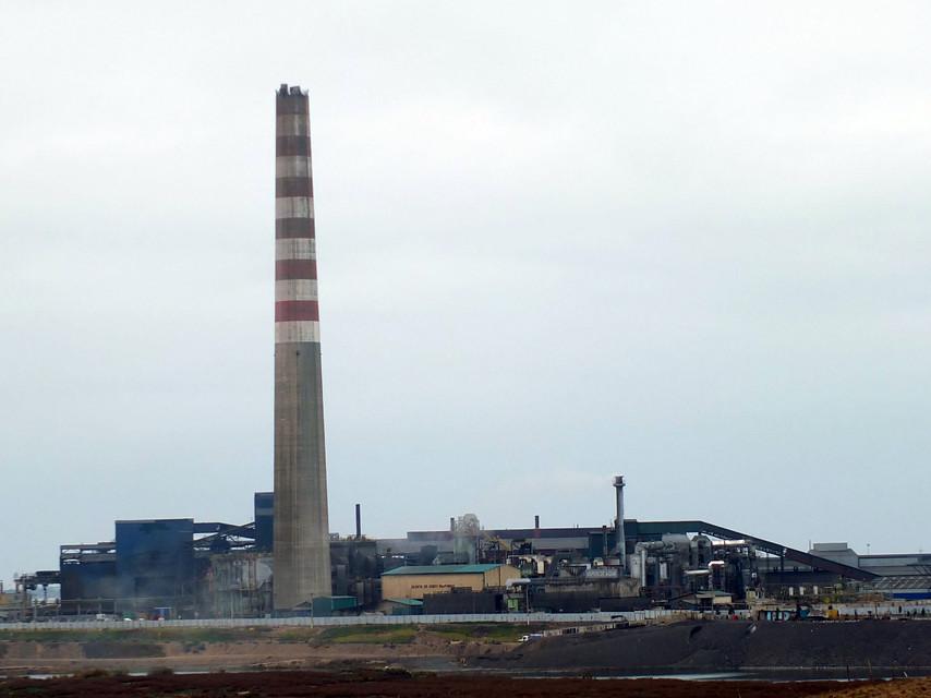 Altas emisiones de dióxido de azufre en Codelco Ventanas