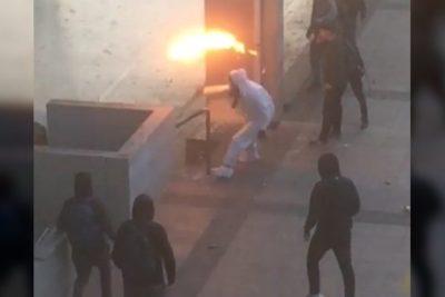 Carabinero herido con bomba molotov detalló los extremos minutos que vivió al interior del Liceo de Aplicación