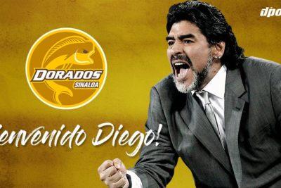 Diego Maradona tiene nuevo desafío futbolístico: es el nuevo DT de Dorados de Sinaloa en México