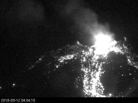 Sernageomin reportó nueva explosión en Complejo Volcánico Nevados de Chillán