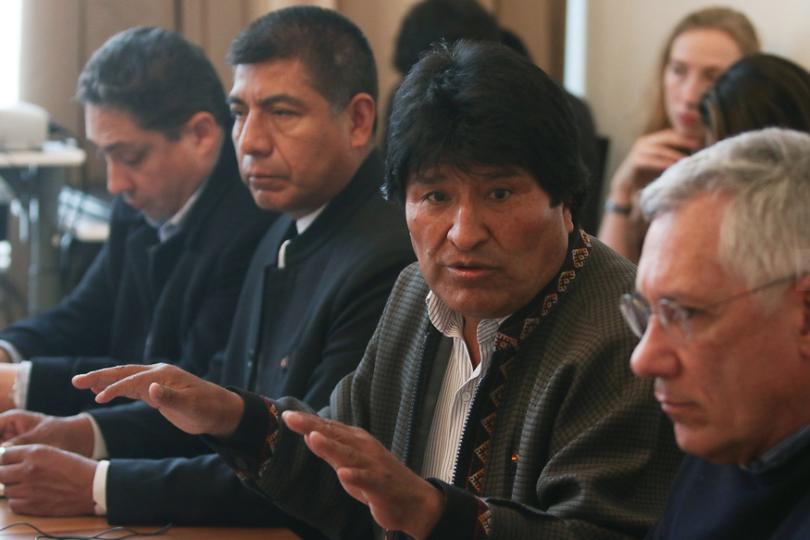 Evo Morales acusa al Gobierno chileno de querer derrocarlo