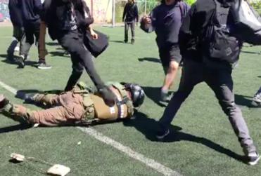 Alcalde Alessandri viraliza registro inédito de golpiza de estudiantes del INBA a carabinero