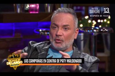 VIDEO   Luis Jara fue a los estudios de Canal 13 a defender a Maldonado y da luces de por qué Mega no la saca tras nueva funa