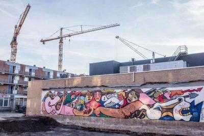 Descubren mural de Brigada Ramona Parra durante demolición en Amsterdam