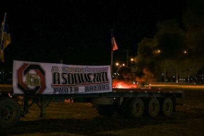 Indefinido: Camiones de Magallanes siguen paro y presionan con cortes de rutas
