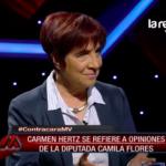 VIDEO | Así reaccionó Carmen Hertz cuando le mostraron en vivo las declaraciones de Camila Flores en Mentiras Verdaderas