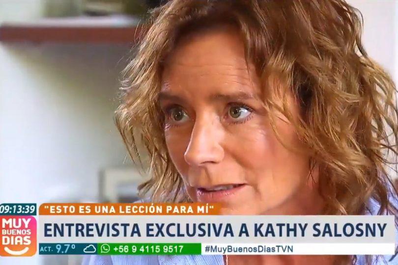 Katherine Salosny se disculpa en pantalla de TVN tras detención por manejo en estado de ebriedad