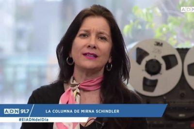 """""""Ve a las mujeres como un pedazo de carne"""" y otras frases en la durísima crítica de Mirna Schindler a """"la minifalda"""" Piñera"""