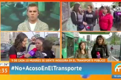 """VIDEO   """"¡Saquen a la Maldonado, facha rec…!"""": transeúnte irrumpió despacho del Mucho Gusto y descolocó a Viñuela"""