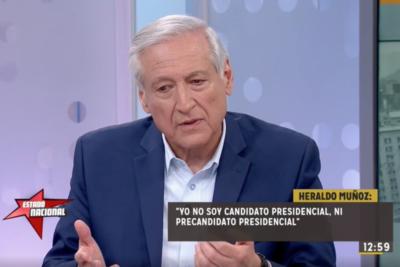 """Ex canciller Heraldo Muñoz: """"No soy candidato ni precandidato presidencial"""""""