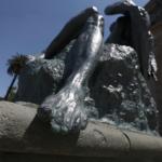 FOTOS | Restauración de escultura de Rebeca Matte en Parque Forestal duró un día
