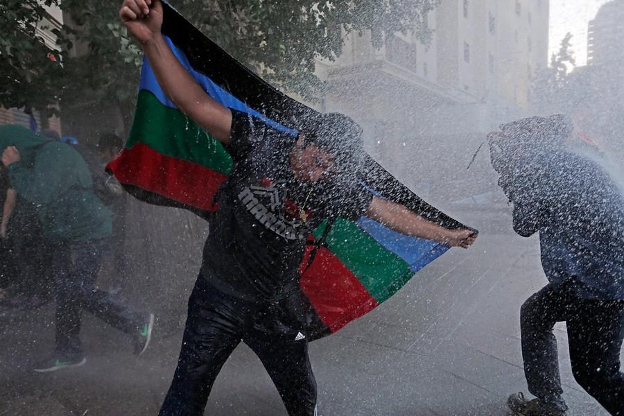 Manifestación por Catrillanca genera incidentes en Plaza Baquedano