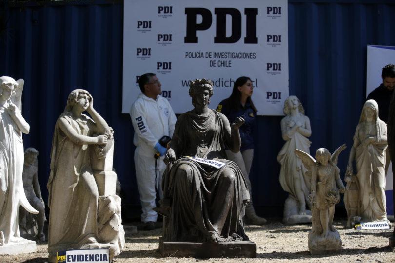 PDI asiste por segunda vez a fundo de empresario que tenía esculturas robadas