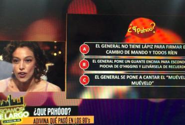 Nathalie Nicloux corrige en vivo un pequeño detalle sobre Augusto Pinochet